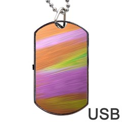 Metallic Brush Strokes Paint Abstract Texture Dog Tag Usb Flash (one Side)