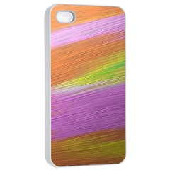 Metallic Brush Strokes Paint Abstract Texture Apple iPhone 4/4s Seamless Case (White)