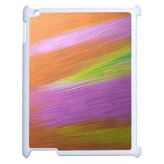 Metallic Brush Strokes Paint Abstract Texture Apple iPad 2 Case (White)