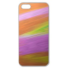 Metallic Brush Strokes Paint Abstract Texture Apple Seamless Iphone 5 Case (clear)
