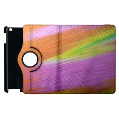 Metallic Brush Strokes Paint Abstract Texture Apple iPad 2 Flip 360 Case