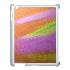 Metallic Brush Strokes Paint Abstract Texture Apple Ipad 3/4 Case (white)