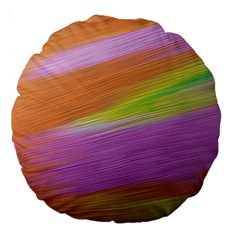 Metallic Brush Strokes Paint Abstract Texture Large 18  Premium Round Cushions