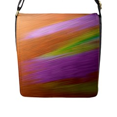Metallic Brush Strokes Paint Abstract Texture Flap Messenger Bag (L)