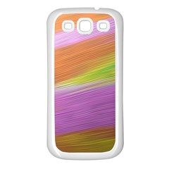 Metallic Brush Strokes Paint Abstract Texture Samsung Galaxy S3 Back Case (White)