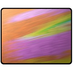 Metallic Brush Strokes Paint Abstract Texture Double Sided Fleece Blanket (medium)