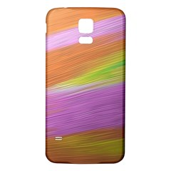 Metallic Brush Strokes Paint Abstract Texture Samsung Galaxy S5 Back Case (white)