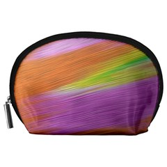 Metallic Brush Strokes Paint Abstract Texture Accessory Pouches (Large)