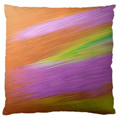 Metallic Brush Strokes Paint Abstract Texture Large Flano Cushion Case (two Sides)