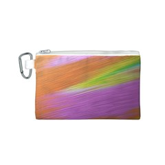 Metallic Brush Strokes Paint Abstract Texture Canvas Cosmetic Bag (S)