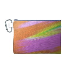 Metallic Brush Strokes Paint Abstract Texture Canvas Cosmetic Bag (M)