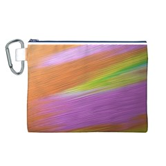 Metallic Brush Strokes Paint Abstract Texture Canvas Cosmetic Bag (L)