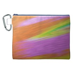 Metallic Brush Strokes Paint Abstract Texture Canvas Cosmetic Bag (XXL)