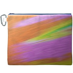 Metallic Brush Strokes Paint Abstract Texture Canvas Cosmetic Bag (XXXL)