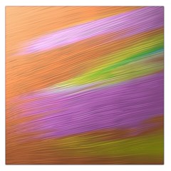 Metallic Brush Strokes Paint Abstract Texture Large Satin Scarf (Square)