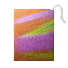 Metallic Brush Strokes Paint Abstract Texture Drawstring Pouches (Extra Large)