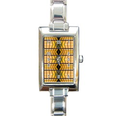 Light Steps Abstract Rectangle Italian Charm Watch