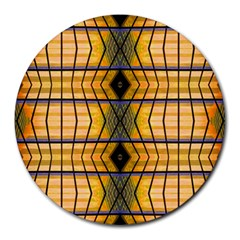 Light Steps Abstract Round Mousepads