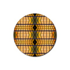 Light Steps Abstract Rubber Coaster (Round)