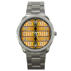 Light Steps Abstract Sport Metal Watch