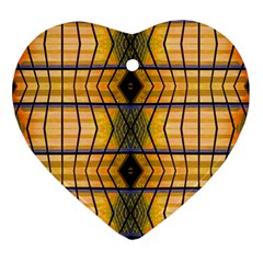 Light Steps Abstract Heart Ornament (Two Sides)