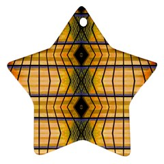 Light Steps Abstract Star Ornament (Two Sides)
