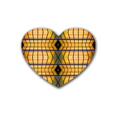 Light Steps Abstract Rubber Coaster (Heart)
