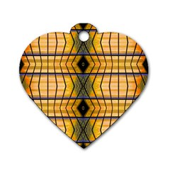 Light Steps Abstract Dog Tag Heart (one Side)