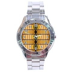 Light Steps Abstract Stainless Steel Analogue Watch