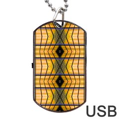 Light Steps Abstract Dog Tag USB Flash (One Side)