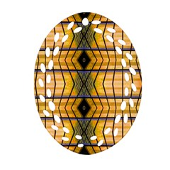 Light Steps Abstract Oval Filigree Ornament (two Sides)