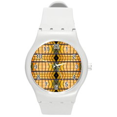 Light Steps Abstract Round Plastic Sport Watch (M)
