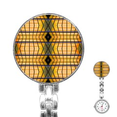 Light Steps Abstract Stainless Steel Nurses Watch
