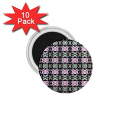 Colorful Pixelation Repeat Pattern 1.75  Magnets (10 pack)