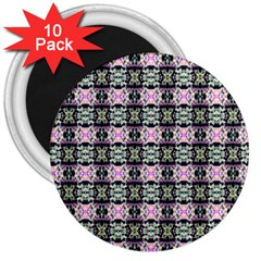 Colorful Pixelation Repeat Pattern 3  Magnets (10 Pack)