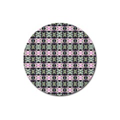 Colorful Pixelation Repeat Pattern Magnet 3  (Round)