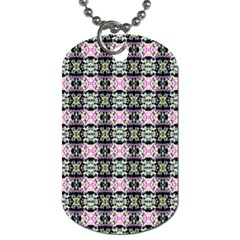 Colorful Pixelation Repeat Pattern Dog Tag (one Side)