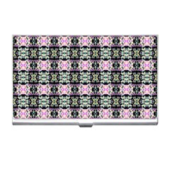 Colorful Pixelation Repeat Pattern Business Card Holders