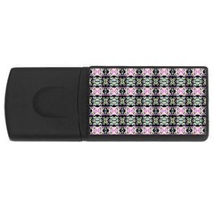 Colorful Pixelation Repeat Pattern USB Flash Drive Rectangular (2 GB)