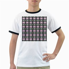 Colorful Pixelation Repeat Pattern Ringer T-Shirts