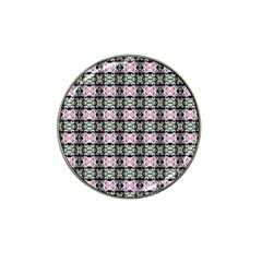 Colorful Pixelation Repeat Pattern Hat Clip Ball Marker