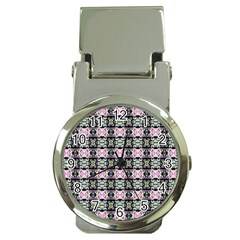 Colorful Pixelation Repeat Pattern Money Clip Watches