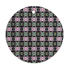 Colorful Pixelation Repeat Pattern Round Ornament (two Sides)