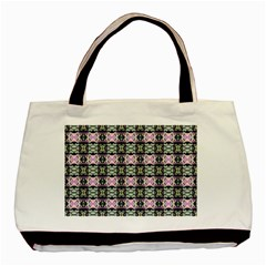Colorful Pixelation Repeat Pattern Basic Tote Bag (two Sides)