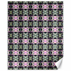 Colorful Pixelation Repeat Pattern Canvas 11  x 14