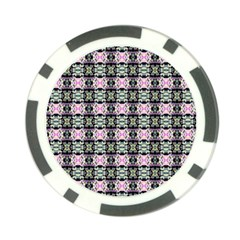 Colorful Pixelation Repeat Pattern Poker Chip Card Guard