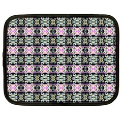 Colorful Pixelation Repeat Pattern Netbook Case (Large)