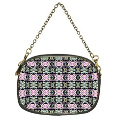 Colorful Pixelation Repeat Pattern Chain Purses (Two Sides)