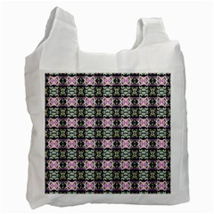 Colorful Pixelation Repeat Pattern Recycle Bag (one Side)