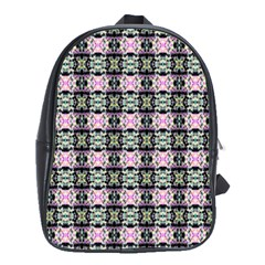 Colorful Pixelation Repeat Pattern School Bags(Large)